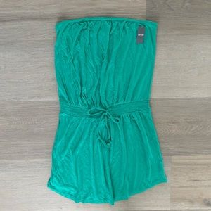 Aerie teal coverup dress